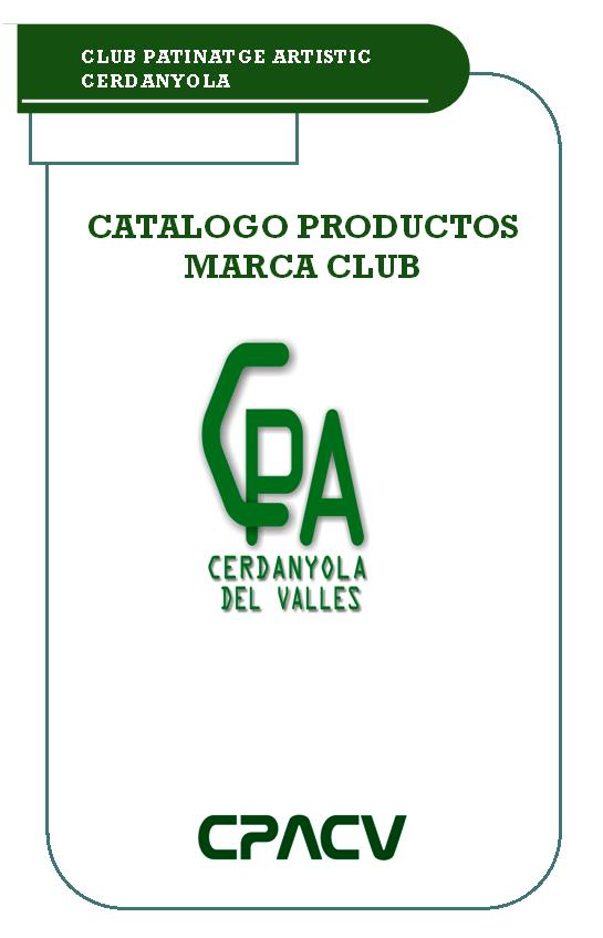 Catalogo de productos marca Club
